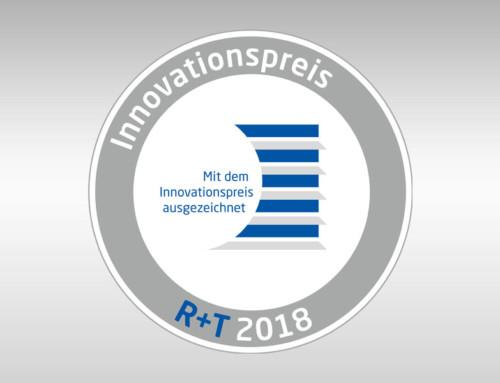 Auszeichnung: INNOVATIONSPREIS R+T 2018