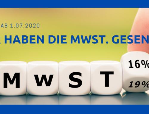 Mehrwertsteuersenkung ab 01.07.2020